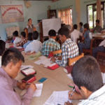 Participants taking the training
